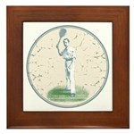 Tennis Player, Vintage Framed Tile