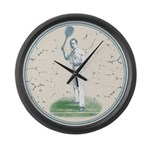 Tennis Player, Vintage Large Wall Clock