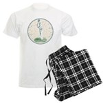 Tennis Player, Vintage Men's Light Pajamas