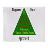 Guyana Food Pyramid Throw Blanket