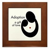 ADOPTION GIFT OF LOVE Framed Tile