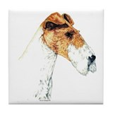 Wire Fox Terrier Art Tile Coaster