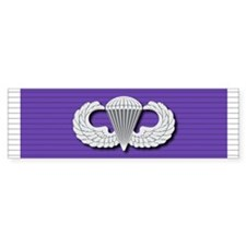 Airborne Purple Heart Bumper Sticker