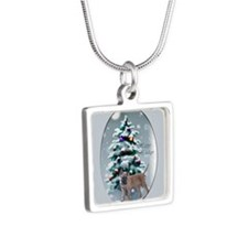 Belgian Malinois Silver Square Necklace