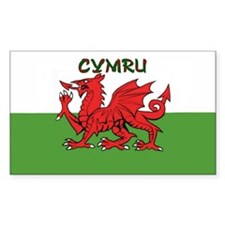 ...Cymru... Rectangle Decal