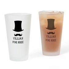 Villian for hire Drinking Glass