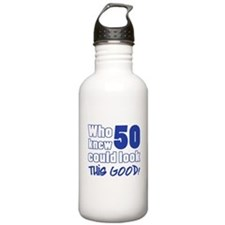 50 Years Old Looks Good Water Bottle