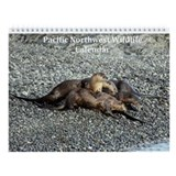 Cool Sea otter love Wall Calendar