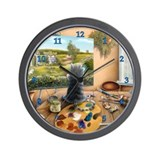 """P'catso's Masterpiece"" Wall Clock"