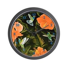 """Hummingbird Buffet"" Wall Clock"