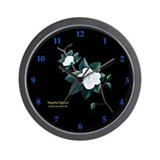 &quot;Magnolia Elegance&quot; Wall Clock