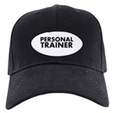 Personal Trainer Black/White Baseball Cap