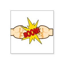 "Fist Bump BOOM! Square Sticker 3"" x 3"""