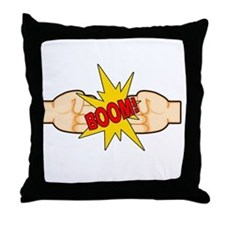 Fist Bump BOOM! Throw Pillow