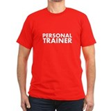 Personal Trainer White/Black T