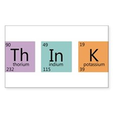 Periodic Chart Think Decal