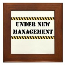 Under New Management Framed Tile