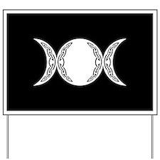 Triple Goddess Moon Symbol Yard Sign