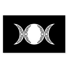 Triple Goddess Moon Symbol Decal