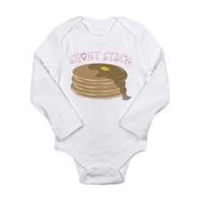Short Stack Long Sleeve Infant Bodysuit