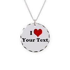 Customized I Love Heart Necklace