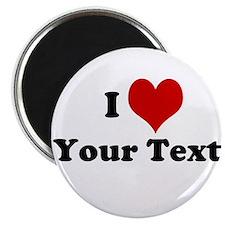 "Customized I Love Heart 2.25"" Magnet (100 pack)"