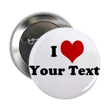 "Customized I Love Heart 2.25"" Button (10 pack)"