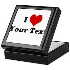 Customized I Love Heart Keepsake Box