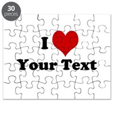 Customized I Love Heart Puzzle