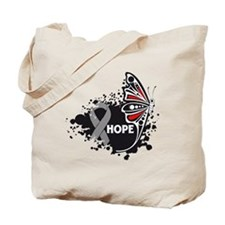 Hope Brain Cancer Butterfly Tote Bag