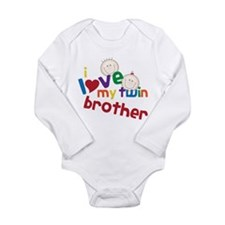 Love My Twin Long Sleeve Infant Bodysuit