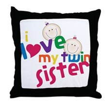 Twin Sister Throw Pillow