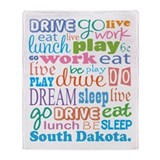 live dream South Dakota Throw Blanket