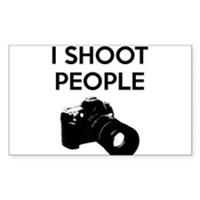 I shoot people - photography Decal