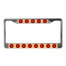 Red Rose Of Lancaster License Plate Frame