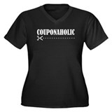 COUPONAHOLIC Women's Plus Size V-Neck Dark T-Shirt