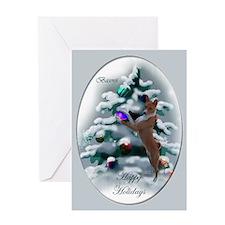 Basenji Christmas Greeting Card