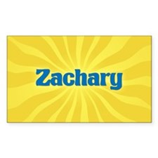 Zachary Sunburst Oval Decal