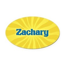 Zachary Sunburst Oval Car Magnet