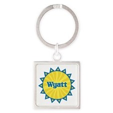 Wyatt Sunburst Square Keychain