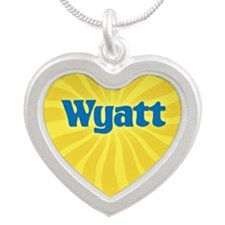 Wyatt Sunburst Silver Heart Necklace