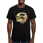 Hawaiian Pizza Men's Fitted T-Shirt (dark)