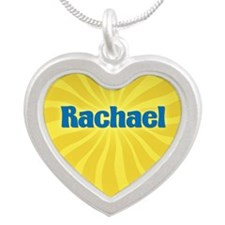 Rachael Sunburst Silver Heart Necklace