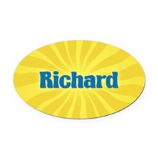 Richard Sunburst Oval Car Magnet