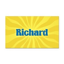 Richard Sunburst Retangular Car Magnet
