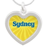 Sydney Sunburst Silver Heart Necklace