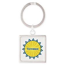 Terrance Sunburst Square Keychain