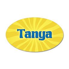 Tanya Sunburst 20x12 Oval Wall Decal