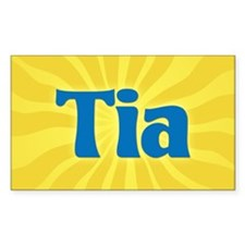Tia Sunburst Rectangle Decal
