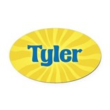 Tyler Sunburst Oval Car Magnet